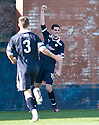 BRIAN GRAHAM CELEBRATES AFTER HE SCORES RAITH'S FIRST