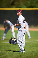 Central Michigan Chippewas head coach Steve Jaksa (22) during practice before a game against the Boston College Eagles on March 3, 2017 at North Charlotte Regional Park in Port Charlotte, Florida.  Boston College defeated Central Michigan 5-4.  (Mike Janes/Four Seam Images)