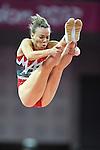 London 2012. Womens Trampoline Finals 4.8.12  North Greenwich Arena .Karen Cockburn  Canada