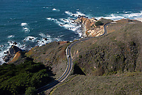 aerial photograph of Highway 1, Monterey County, California