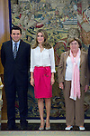 21.09.2012. Princess Letizia of Spain attend s in audience audience to a representation of the Association optic nerve atrophy Leber (ASANOL) in the Zarzuela Palace, Madrid. In the image Princess Letizia of Spain  (Alterphotos/Marta Gonzalez)