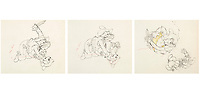 BNPS.co.uk (01202 558833)<br /> Pic: Heritage Auctions/BNPS<br /> <br /> PICTURED: Two-Gun Mickey Animation drawings from 1934<br /> <br /> A vast collection of original hand-drawn animations from classic Disney movies has emerged for sale at auction.<br /> <br /> Nearly 300 lots have been put up for sale with animation drawings, original concepts, layouts and storyboards among the most appealing items.<br /> <br /> It is believed the group is the largest collection of original hand-drawn Disney animation ever offered in a single auction.
