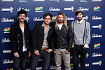 Music Band El viaje de Elliot pose in 40 Principales Awards photocall at Palacio de los Deportes in Madrid, Spain. December 12, 2013. (ALTERPHOTOS/Victor Blanco)