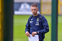physiotherapist Tristan Blyckaerts of Sporting Charleroi pictured during a friendly soccer game between Zulte Waregem and Sporting Charleroi during the preparations for the 2021-2022 season , on Saturday 10 th of July 2021 in Ingelmunster , Belgium . PHOTO STIJN AUDOOREN   SPORTPIX