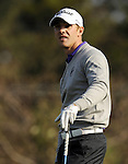 JEJU, SOUTH KOREA - APRIL 23:  Tano Goya of Argentina tees off on the 18th hole during the Round Two of the Ballantine's Championship at Pinx Golf Club on April 23, 2010 in Jeju island, South Korea. Photo by Victor Fraile / The Power of Sport Images