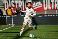 WASHINGTON, DC - FEBRUARY 29: Sam Nicholson #28 of the Colorado Rapids runs onto the ball during a game between Colorado Rapids and D.C. United at Audi Field on February 29, 2020 in Washington, DC.