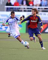 Ivan Trujillo and Kyle Beckermanin the 0-0 draw at Rice Eccles Stadium in Salt Lake City, Utah on  June 7, 2008.