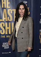 "LOS ANGELES - JANUARY 22:  Courteney Cox at the opening night of ""The Last Ship"" on January 22, 2020 at the Ahmanson Theatre in Los Angeles, California. (Photo by Scott Kirkland/PictureGroup)"