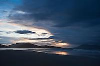 Sunset over Luskentyre beach, Isle of Harris, Outer Hebrides, Scotland