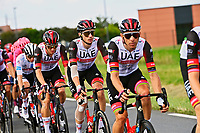 1st July 2021; Chateauroux, France;  TEAM UAE during stage 6 of the 108th edition of the 2021 Tour de France cycling race, a stage of 160,6 kms between Tours and Chateauroux on July 1