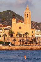 San Barthomieu i Santa Tecla church. Sitges, Catalonia, Spain