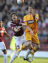 31/10/2009  Copyright  Pic : James Stewart.sct_jspa01_motherwell_v_hearts  . :: LUKAS JUTKIEWICZ AND RUBEN PALAZUELOS CHALLENGE :: .James Stewart Photography 19 Carronlea Drive, Falkirk. FK2 8DN      Vat Reg No. 607 6932 25.Telephone      : +44 (0)1324 570291 .Mobile              : +44 (0)7721 416997.E-mail  :  jim@jspa.co.uk.If you require further information then contact Jim Stewart on any of the numbers above.........