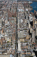 aerial photograph upper east side Manhattan, New York City