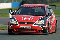 Round 10 of the 2002 British Touring Car Championship. #28 Andy Priaulx (GBR). Honda Racing. Honda Civic Type-R.