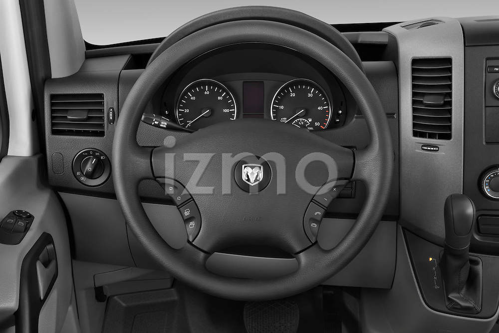 Steering wheel view of a 2008 Dodge Sprinter Passenger Van