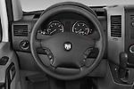Steering wheel view of a 2008 Dodge Sprinter Passenger Van