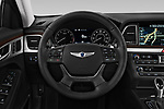 Car pictures of steering wheel view of a 2017 Genesis G80 3.8-AWD 4 Door Sedan Steering Wheel