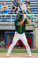 Beloit Snappers second baseman Nate Mondou (10) at bat during a Midwest League game against the Peoria Chiefs on April 15, 2017 at Pohlman Field in Beloit, Wisconsin.  Beloit defeated Peoria 12-0. (Brad Krause/Four Seam Images)