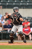 San Antonio Missions catcher Austin Hedges (15) during a game against the Arkansas Travelers on May 24, 2014 at Dickey-Stephens Park in Little Rock, Arkansas.  Arkansas defeated San Antonio 4-2.  (Mike Janes/Four Seam Images)