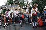 Greenfield Saddleworth Yorkshire UK. Morris men and Saddleworth Rushcart.