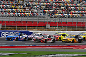 #24: William Byron, Hendrick Motorsports, Chevrolet Camaro Hendrickcars.com, #95: Christopher Bell, Leavine Family Racing, Toyota Camry Rheem, #48: Jimmie Johnson, Hendrick Motorsports, Chevrolet Camaro Ally