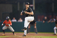 Army Black Knights starting pitcher Daniel Burggraaf (33) in action against the Auburn Tigers at Doak Field at Dail Park on June 2, 2018 in Raleigh, North Carolina. The Tigers defeated the Black Knights 12-1. (Brian Westerholt/Four Seam Images)
