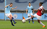 Caroline Weir of Manchester City Women and Paige Bailey-Gayle of Arsenal Women