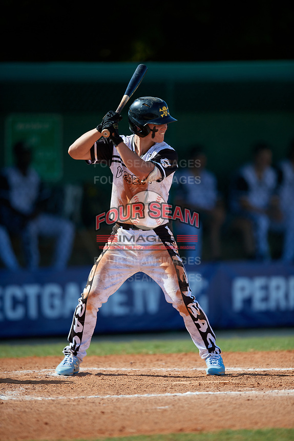 Austin Hawke (2) during the WWBA World Championship at Terry Park on October 10, 2020 in Fort Myers, Florida.  Austin Hawke, a resident of Pfafftown, North Carolina who attends Reagan High School, is committed to North Carolina.  (Mike Janes/Four Seam Images)