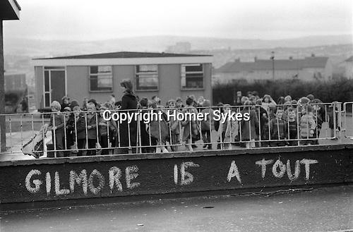 Raymond Gilmore supergrass graffiti. Londonderry 1983. The Creggan Estate 1983