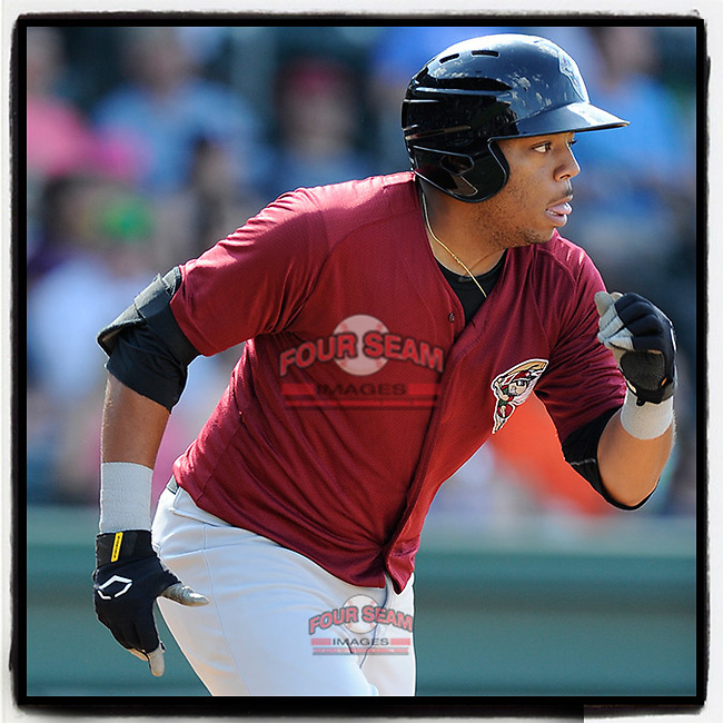 #OTD On This Day, June 22, 2014, Dominic Smith of the Savannah Sand Gnats scored a run in a game against the Greenville Drive at Fluor Field at the West End in Greenville, South Carolina. Smith has played with the Mets since 2017. (Tom Priddy/Four Seam Images) #MiLB #OnThisDay #MissingBaseball #nobaseball #stayathome #minorleagues #minorleaguebaseball #Baseball #SallyLeague #AloneTogether