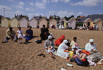 Mount Zion Spiritual Baptist Church.  Church outing  to Felixstowe. New members are baptised in the sea. 1990s