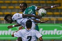BOGOTA - COLOMBIA, 27-02-2021: La Equidad y Boyacá Chicó F.C. en partido por la fecha 15 de la Liga BetPlay DIMAYOR I 2021 jugado en el estadio Estadio Metroplitano de Techo de la ciudad de Bogotá. / La Equidad and Boyaca Chico F.C. in match for the date 15 BetPlay DIMAYOR League I 2021 played at Metropolitano de Techo stadium in Bogota city. Photo: VizzorImage / Daniel Garzon / Cont