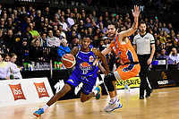 Kerwin Roach of the Wellington Saints drives to the basket during the round two NBL match between the Wellington Saints and the Southland Sharks at TSB Bank Arena, Wellington, New Zealand on Friday 7 May 2021.<br /> Photo by Masanori Udagawa. <br /> www.photowellington.photoshelter.com