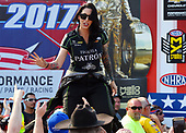 NHRA Mello Yello Drag Racing Series<br /> Chevrolet Performance U.S. Nationals<br /> Lucas Oil Raceway, Indianapolis, IN USA<br /> Monday 4 September 2017, Alexis Dejoria, Patron, Funny Car, ©2017, World Copyright: Will Lester Photography
