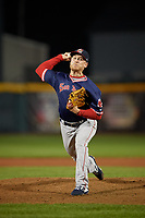 Portland Sea Dogs pitcher Kevin Lenik (28) during an Eastern League game against the Erie SeaWolves on June 17, 2019 at UPMC Park in Erie, Pennsylvania.  Portland defeated Erie 6-3.  (Mike Janes/Four Seam Images)