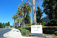 Sept. 6, 2011 - Mountain View, California - U.S. - A sign leads visitors to an entrance at the Google world headquarters in Mountain View, California Monday September 5, 2011.  (Credit Image: Alan Greth/ZUMAPress.com).