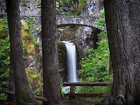 Christine Falls and bridge. Mt. Rainier National Park, Washington