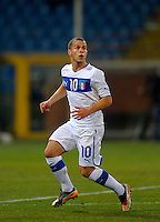 Sebastian Giovinco (ITA), during the friendly match Italy against USA at the Stadium Luigi Ferraris at Genova Italy on february the 29th, 2012.