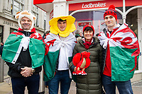 Pictured: Welsh Fans during the Guinness six nations match between Wales and Ireland at the Principality Stadium, Cardiff, Wales, UK.<br /> Saturday 16 March 2019