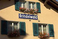 Grindelwald station sign - Swiss Alps
