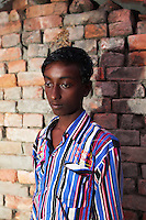 A child worker in a brick factory, in the Malancha district of eastern Kolkata. India. November, 2013