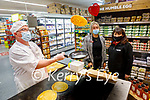 Flipping pancakes in Garveys Supervalu on Monday. Front left: Martin Foley. Back l to r: Martina O'Donoghue and Amber Moriarty.