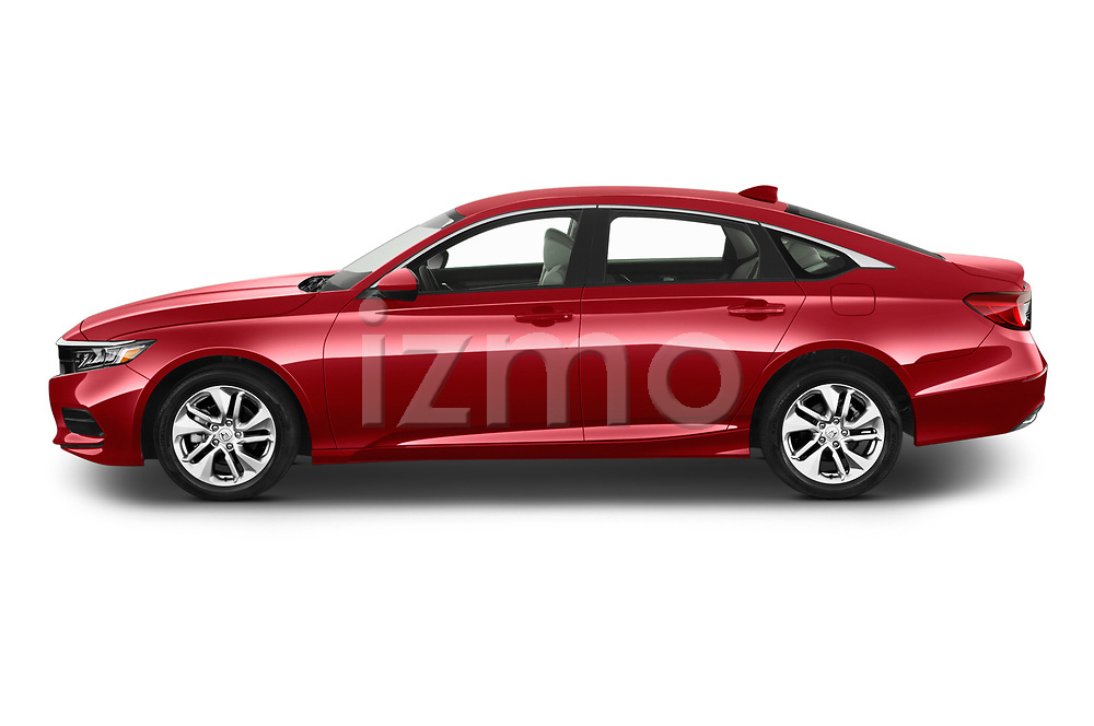 Car driver side profile view of a 2019 Honda Accord LX 4 Door Sedan