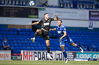 Dan Gardner, Wigan Athletic,  under pressure from Luke Chambers of Ipswich Town during Ipswich Town vs Wigan Athletic, Sky Bet EFL League 1 Football at Portman Road on 13th September 2020