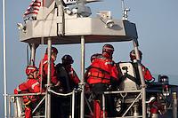 US Coast Guard. Mavericks Surf Contest in Half Moon Bay, California on February 13th, 2010.