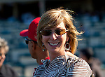 June 26, 2011: Trainer Carla Gaines after Malibu Pier and Brice Blanc win the Beverly Hills Handicap(GII) for owner Spendthrift Farm at Hollywood Park, Inglewood, CA on June 26, 2011.