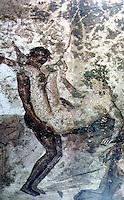 Ancient Erotica:  Fresco, Pompeii.  Otherwise unidentified.  Photo '84.