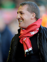 15.12.2012. Liverpool, England.    Brendan Rogers Manager of Liverpool during the Premier League game between Liverpool and Aston Villa from Anfield,Liverpool