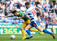 Preston North End's Sean Maguire  competing with Reading's Matt Miazga <br /> <br /> Photographer Andrew Kearns/CameraSport<br /> <br /> The EFL Sky Bet Championship - Reading v Preston North End - Saturday 30th March 2019 - Madejski Stadium - Reading<br /> <br /> World Copyright © 2019 CameraSport. All rights reserved. 43 Linden Ave. Countesthorpe. Leicester. England. LE8 5PG - Tel: +44 (0) 116 277 4147 - admin@camerasport.com - www.camerasport.com