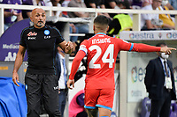 Luciano Spalletti coach of SSC Napoli and Lorenzo Insigneof SSC Napoli during the Serie A 2021/2022 football match between ACF Fiorentina and SSC Napoli at Artemio Franchi stadium in Florence (Italy), October 3rd, 2021. Photo Andrea Staccioli / Insidefoto